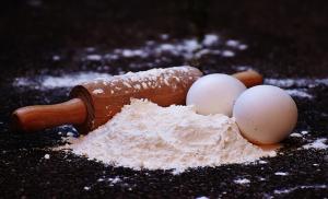 Mehl und Eier