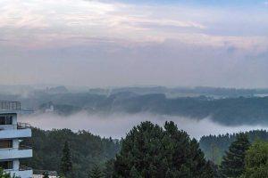 Blick vom Hedwigsturm - Morgennebel