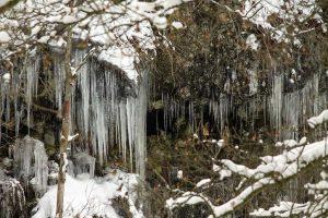 Eiszapfen in der Bacher Lay
