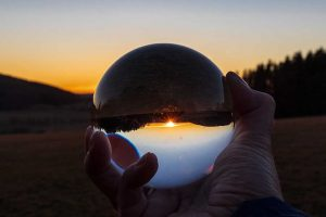 Sonnenuntergang im Lensball