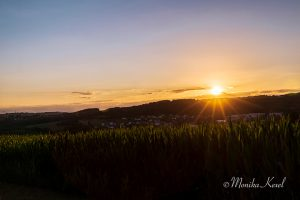 Sonnenuntergang über Langenbach